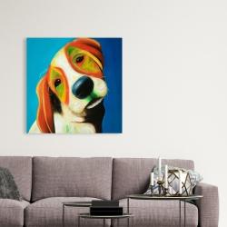 Canvas 36 x 36 - Colorful beagle dog