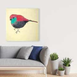 Canvas 36 x 36 - Little purple bird illustration