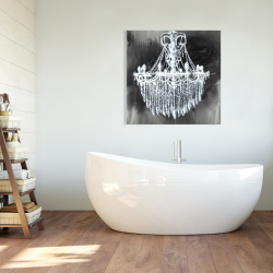 Canvas 36 x 36 - Big glam chandelier
