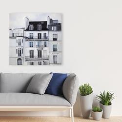 Canvas 36 x 36 - Buildings along the seine river
