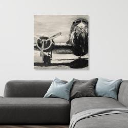 Canvas 36 x 36 - Sepia airplane
