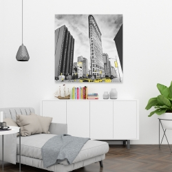 Canvas 36 x 36 - Outline of flatiron building to new-york