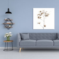 Canvas 36 x 36 - Cotton flowers branch