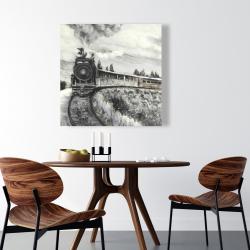 Canvas 36 x 36 - Steam engine train