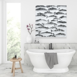Canvas 36 x 36 - Gray shoal of fish