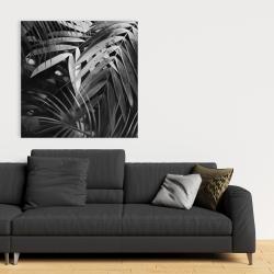 Canvas 36 x 36 - Monochrome tropicals leaves