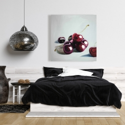 Canvas 36 x 36 - Glossy dark cherries