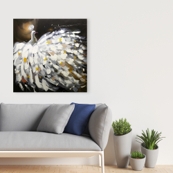 Canvas 36 x 36 - Abstract peacock