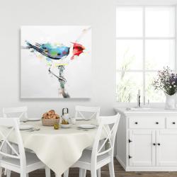 Canvas 36 x 36 - Colorful woodpecker