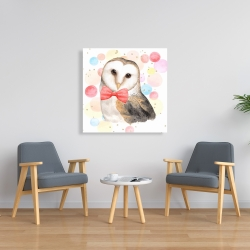 Toile 36 x 36 - Chic hibou