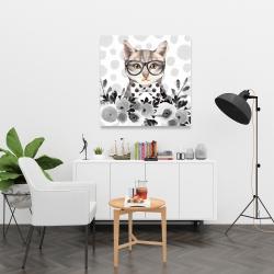 Canvas 36 x 36 - Geek cat