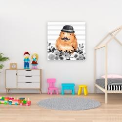 Canvas 36 x 36 - Guinea pig detective