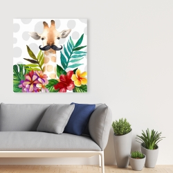 Canvas 36 x 36 - Exotic giraffe