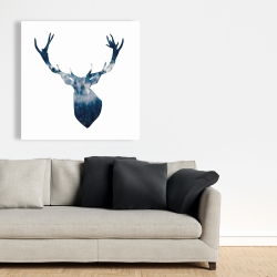 Canvas 36 x 36 - Deer head landscape