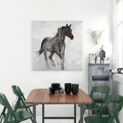 Canvas 36 x 36 - Abstract brown horse