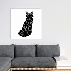 Canvas 36 x 36 - Geometric fox