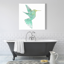 Canvas 36 x 36 - Geometric hummingbird