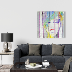 Canvas 36 x 36 - Abstract colorful portrait
