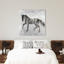 Canvas 36 x 36 - Horse brown silhouette