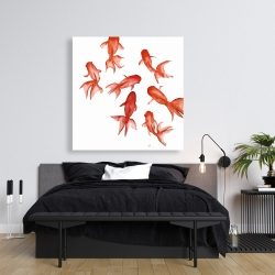Canvas 36 x 36 - Red fishes