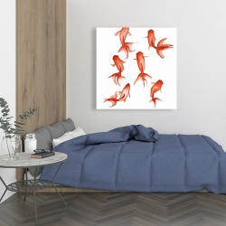 Canvas 36 x 36 - Small red fishes