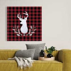 Canvas 36 x 36 - Deer plaid