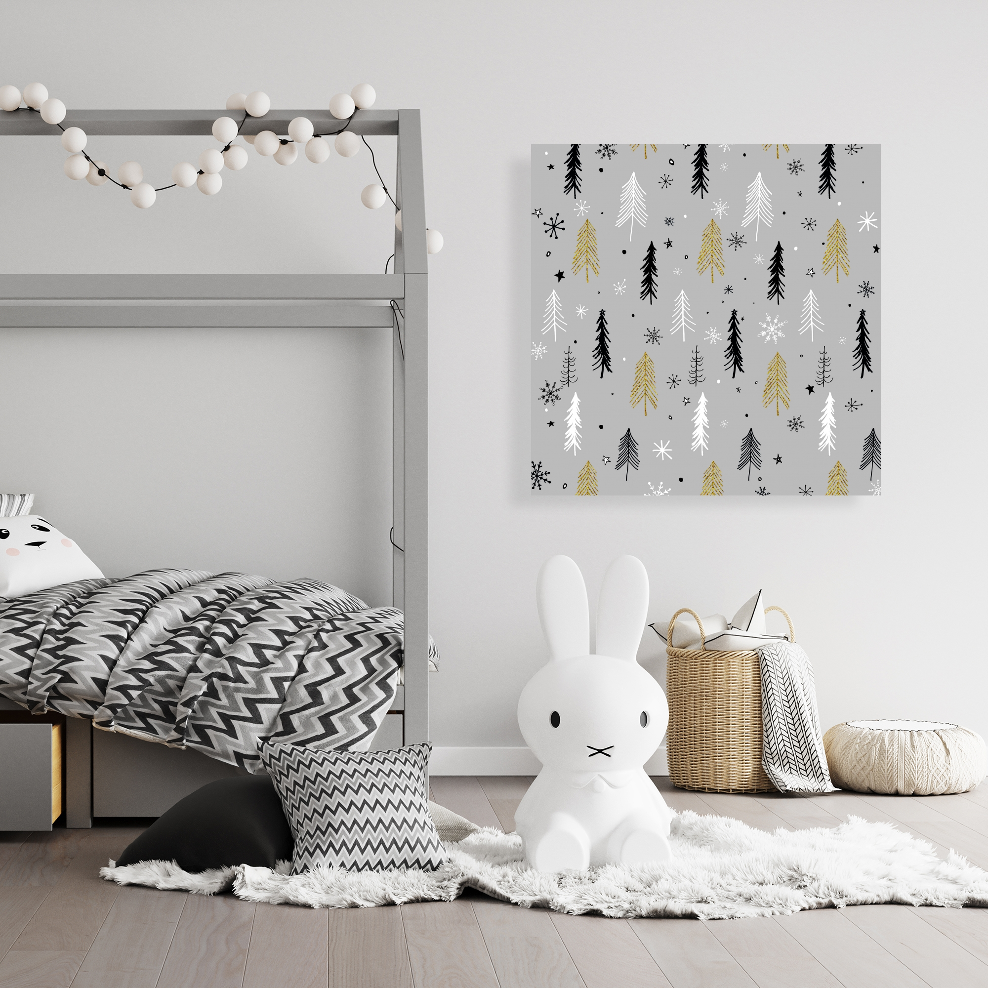 Canvas 36 x 36 - Christmas tree pattern