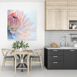 Canvas 36 x 36 - Lotus pastel flower
