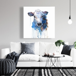 Canvas 36 x 36 - Watercolor jersey cow