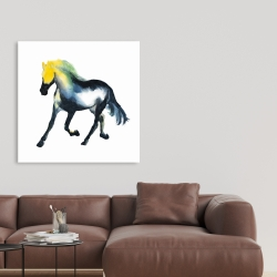 Canvas 36 x 36 - Galloping colorful horse