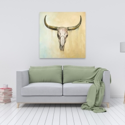 Canvas 36 x 36 - Cow skull