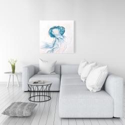 Canvas 36 x 36 - Jellyfish moving