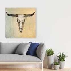 Canvas 36 x 36 - Bull skull
