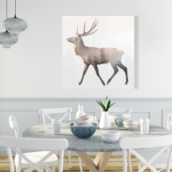 Canvas 36 x 36 - Deer and forest