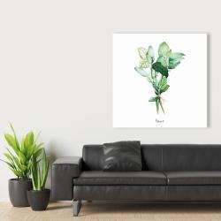 Canvas 36 x 36 - Tied up basil leaves bundle - en