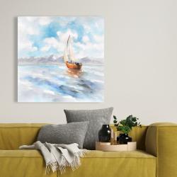 Canvas 36 x 36 - Sailboat landscape