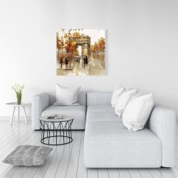 Canvas 36 x 36 - Arc de triomphe in autumn