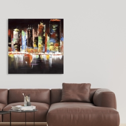 Canvas 36 x 36 - Cityscape by night