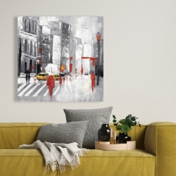 Canvas 36 x 36 - Abstract cloudy city street