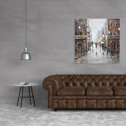 Canvas 36 x 36 - City rain