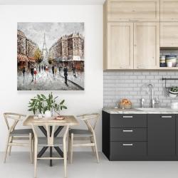 Canvas 36 x 36 - Paris busy street