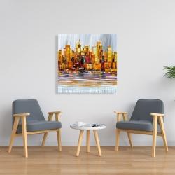 Canvas 36 x 36 - Orange buildings