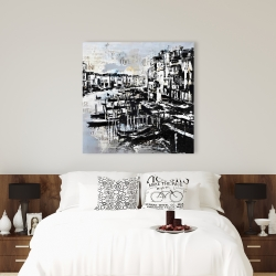 Canvas 36 x 36 - Abstract port with typography