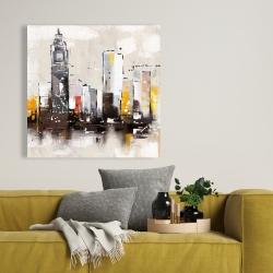 Canvas 36 x 36 - Artistic cityscape