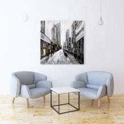 Canvas 36 x 36 - Gray gloomy street