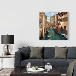 Canvas 36 x 36 - Magical venice canal