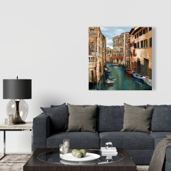 Canvas 36 x 36 - Magical venice canal