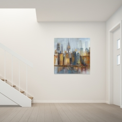 Canvas 36 x 36 - Cityscape with chrysler building