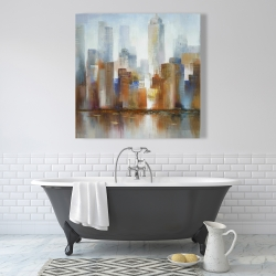 Canvas 36 x 36 - Cityscape in the fog