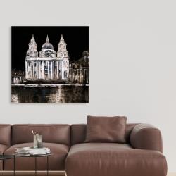 Canvas 36 x 36 - White monument on a dark background